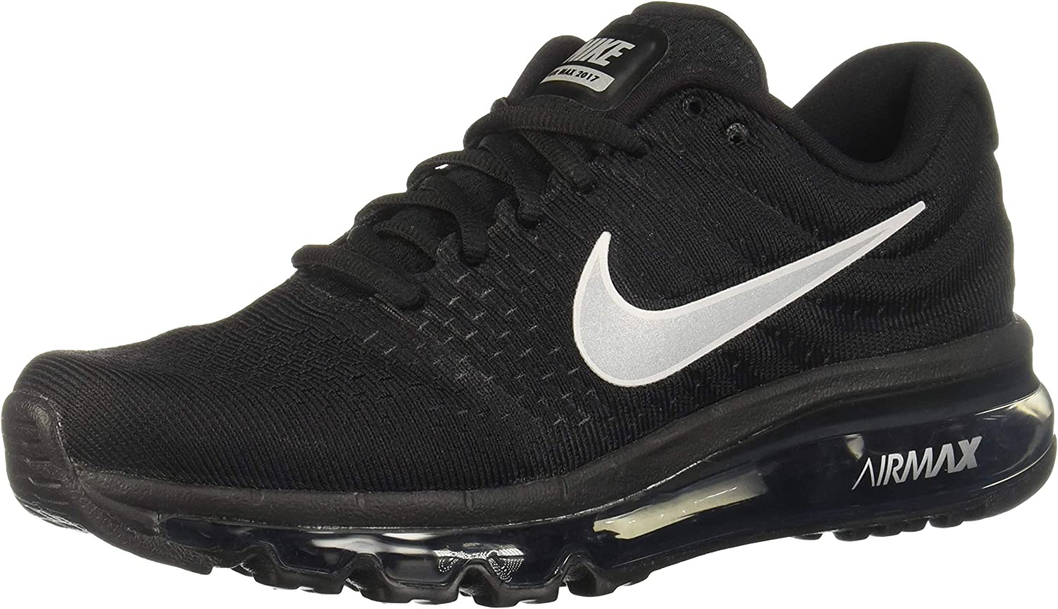 Nike Womens Air Max 2017 Running Shoes Black White Anthracite 849560-001 Size 6