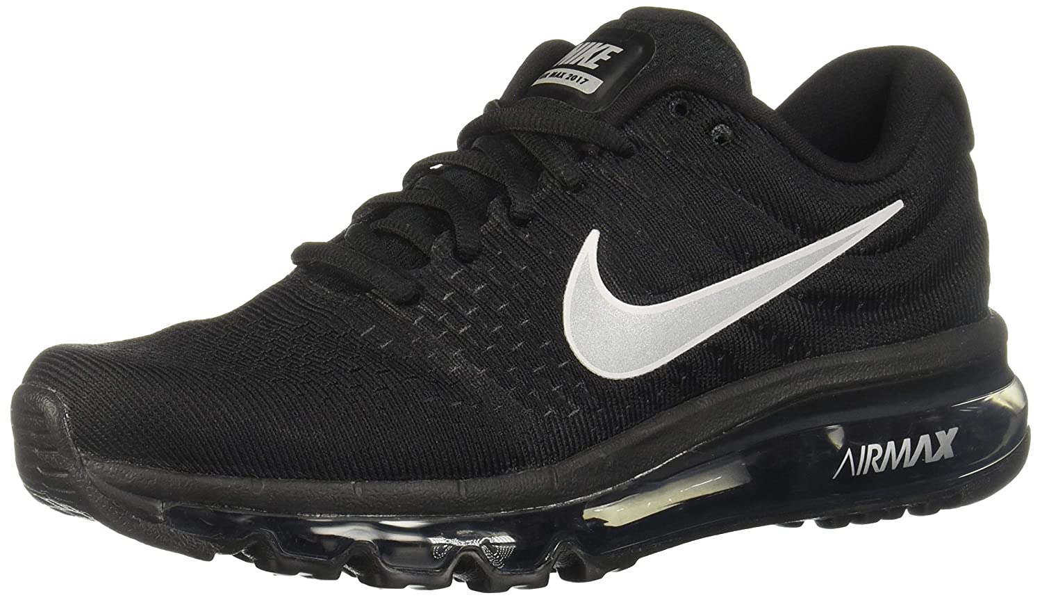 on sale 181d1 8d0d3 Amazon.com   Nike Womens Air Max 2017 Running Shoes Black White Anthracite  849560-001 Size 10   Road Running