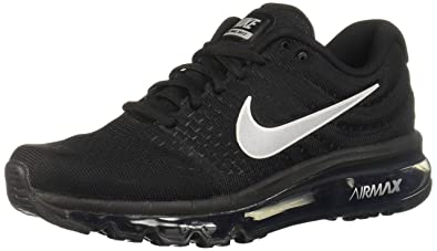 Amazon.com | Nike Womens Air Max 2017 Running Shoes Black/White ...