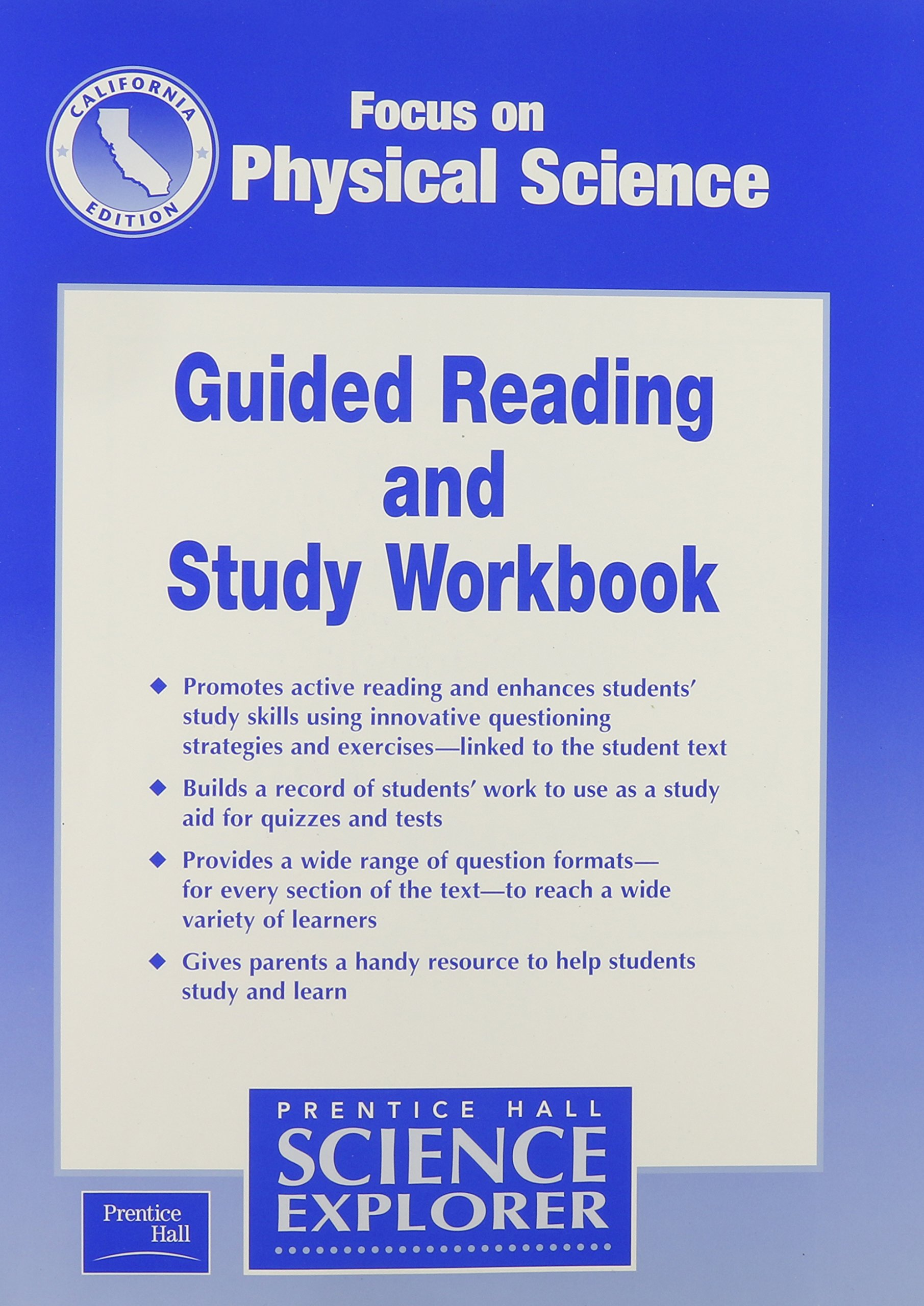 Read Online Focus on Physical Science Guided Reading and Study Workbook California Edition (Science Explorer) PDF