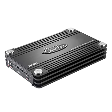 Lanzar DCT425 4000W Amplificador FET Completo de Clase AB con 4 Canales