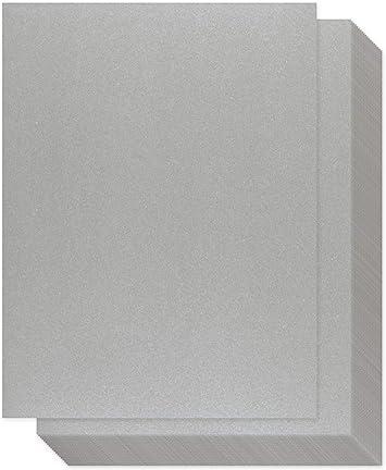 Papel plateado brillante – 100 unidades de papel de cartulina ...