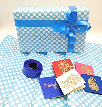 Partyfavours Pack Of 5 Gift Wrapping Paper Sheets 25x18inch For