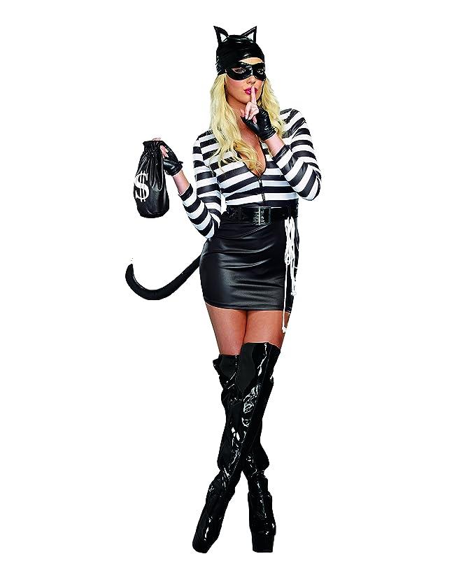 sc 1 st  Amazon.com & Amazon.com: Dreamgirl Womenu0027s Cat Burglar Costume: Clothing