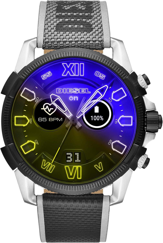 Diesel On Men's Gen 4 Full Guard 2.5 HR Heart Rate Nylon Touchscreen Smart Watch, Color: Multicolor (Model: DZT2012)