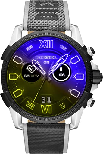 Diesel On Mens Smartwatch Powered with Wear OS by Google with Heart Rate, GPS, NFC, and Smartphone Notifications