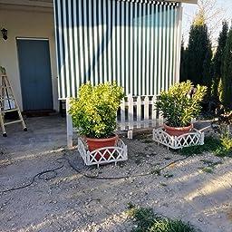 jarolift Estor Exterior/Persiana Exterior/Toldo Vertical, 120 x 240 cm(Ancho x Altura) Blanco: Amazon.es: Hogar