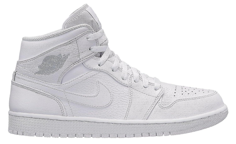NIKE Jordan Mens AIR Jordan 1 MID B07F222YLN 12 D(M) US|White Pure Platinum White