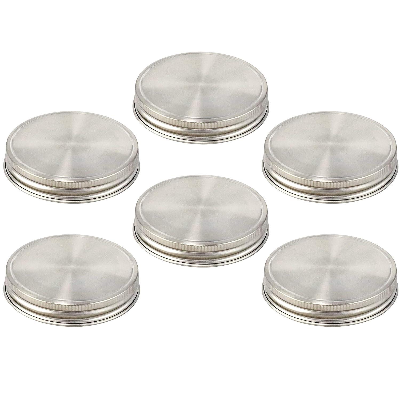 6 Reusable Silicone Seals for  REGULAR MOUTH Mason Jars Gasket