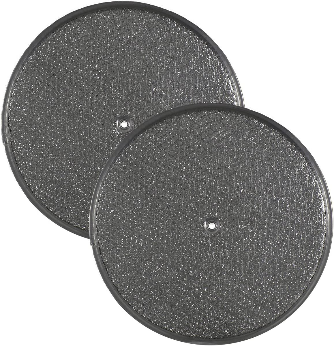 2 PACK Air Filter Factory 10-1/2 Round x 3/32 With Center Hole Range Hood Aluminum Grease Filters