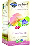 Garden of Life Multivitamin for Women - mykind Organic Women Whole Food Vitamin Supplement, Vegan, 120 Tablets