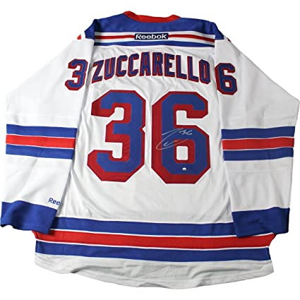 quality design 35e99 db9e5 Mats Zuccarello Signed New York Rangers White Premier Jersey ...