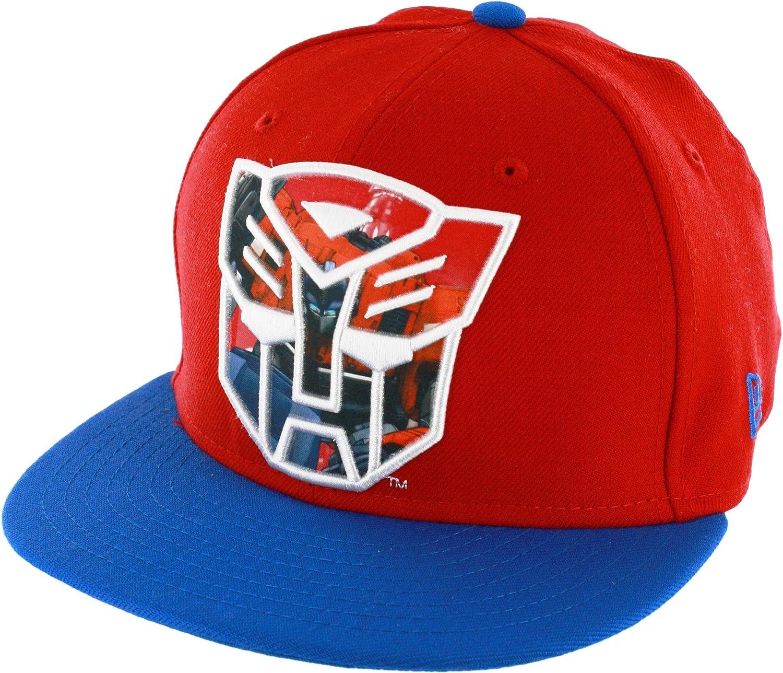 6191ac12703fd Amazon.com  Transformers Autobot Sublimated Action Logo Men s 59FIFTY  Flex-Fit Baseball Cap
