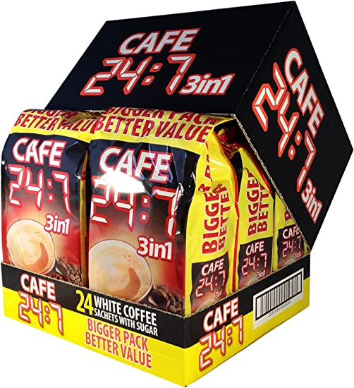 Cafe 247 3 In 1 Coffee Drink 24 Pack X 6 144 Sachets
