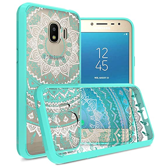 outlet store 144a0 178c7 Galaxy J2 Pro 2018 Case, Galaxy Grand Prime Pro Case, CoverON ClearGuard  Series Hard Slim Fit Phone Cover with Clear Back and Flexible TPU Bumpers  for ...
