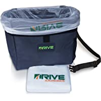 DRIVE Car Bin (Black Strap) - Best Auto Trash Bag for Rubbish, Extra Waste Basket Liners - Hanging Recycle Garbage Can is Universal, Waterproof Organizer Makes a Great Drink Cooler & Road Trip Gift