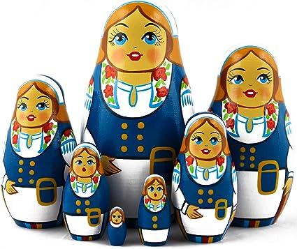 Matryoshka Norwegian Norsk National Costume Russian Nesting Dolls 5 Pcs