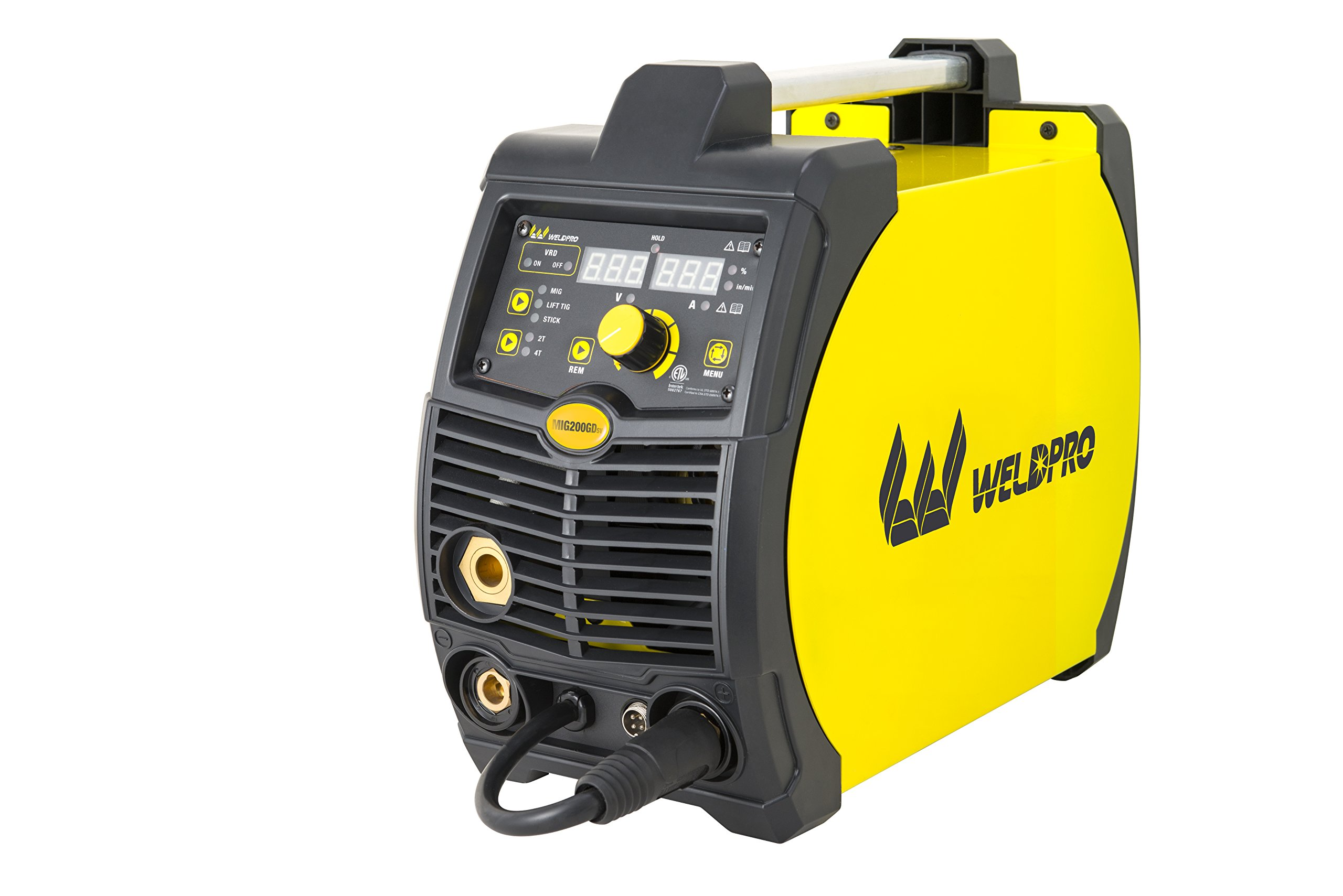 Weldpro 200 Amp Inverter Multi Process Welder with Dual Voltage 220V/110V Mig/Tig/Arc Stick 3 1 welder/welding machine by W Weldpro (Image #3)