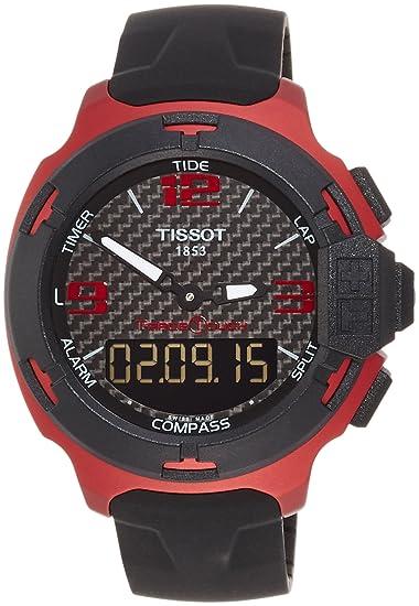 32986edc4211 Tissot T0814209720700 Reloj Análogo T-Race Touch para Hombre  Tissot ...