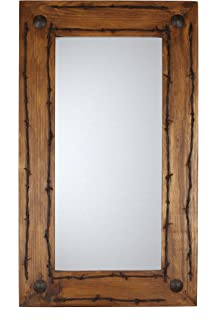 Old Ranch Barbed Wire Rustic Mirror
