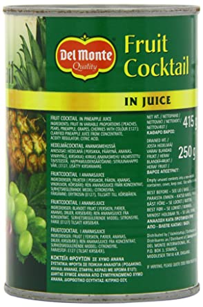 Del Monte Fruit Cocktail In Juice 415g Amazoncouk Grocery
