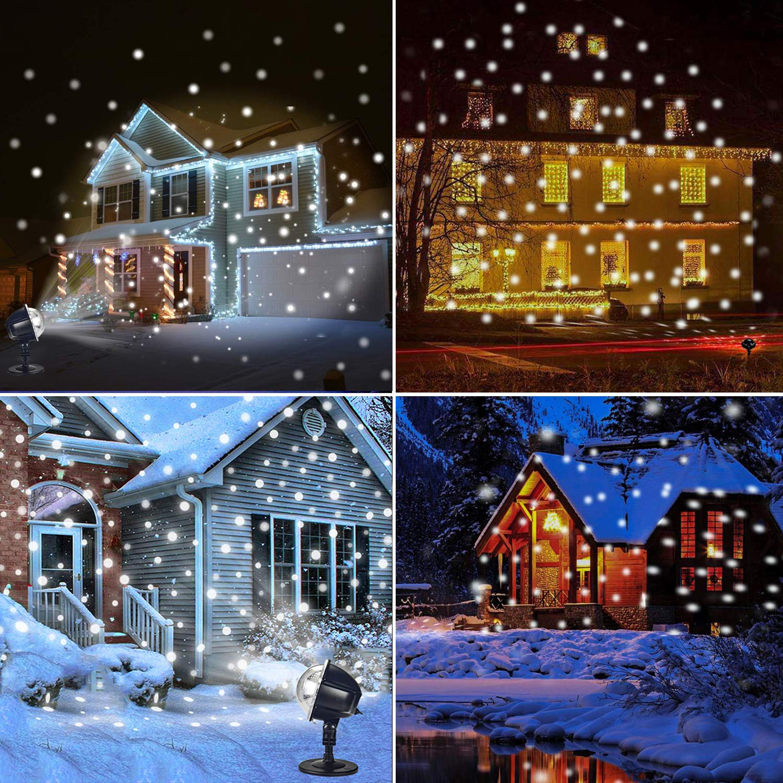 YoyoKit Snowfall Christmas Light Projector, Outdoor IP65 Waterproof ...
