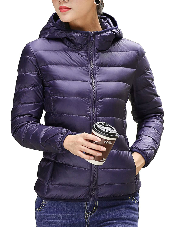 2662441f69e CHERRY CHICK Women s Ultralight Packable Winter Puffer Down Jacket with Hood