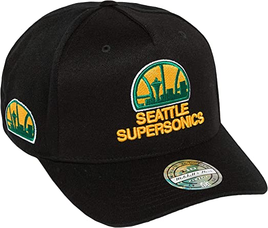Mitchell & Ness Seattle Supersonics INTL132 110 Curved Eazy NBA ...