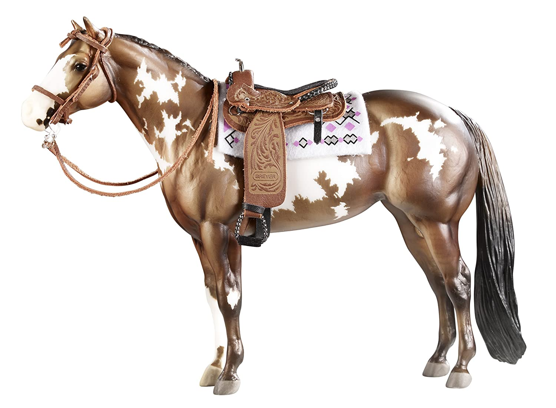 Amazon.com: Breyer Traditional Cimarron Western Pleasure Saddle (1:9  Scale): Toys & Games