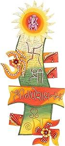 999Store shri ganeshay Namah Sun Door Hanging Rajasthani Handicraft Gift Main Door Hanging Indian Home Decorative Items Indian Home décor