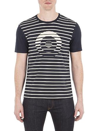 8d6aa9a88 Ben Sherman Mono Stripe Target T-Shirt - MB13445 Regular Fit (Mod Fit) B51  Navy Blazer: Amazon.co.uk: Clothing