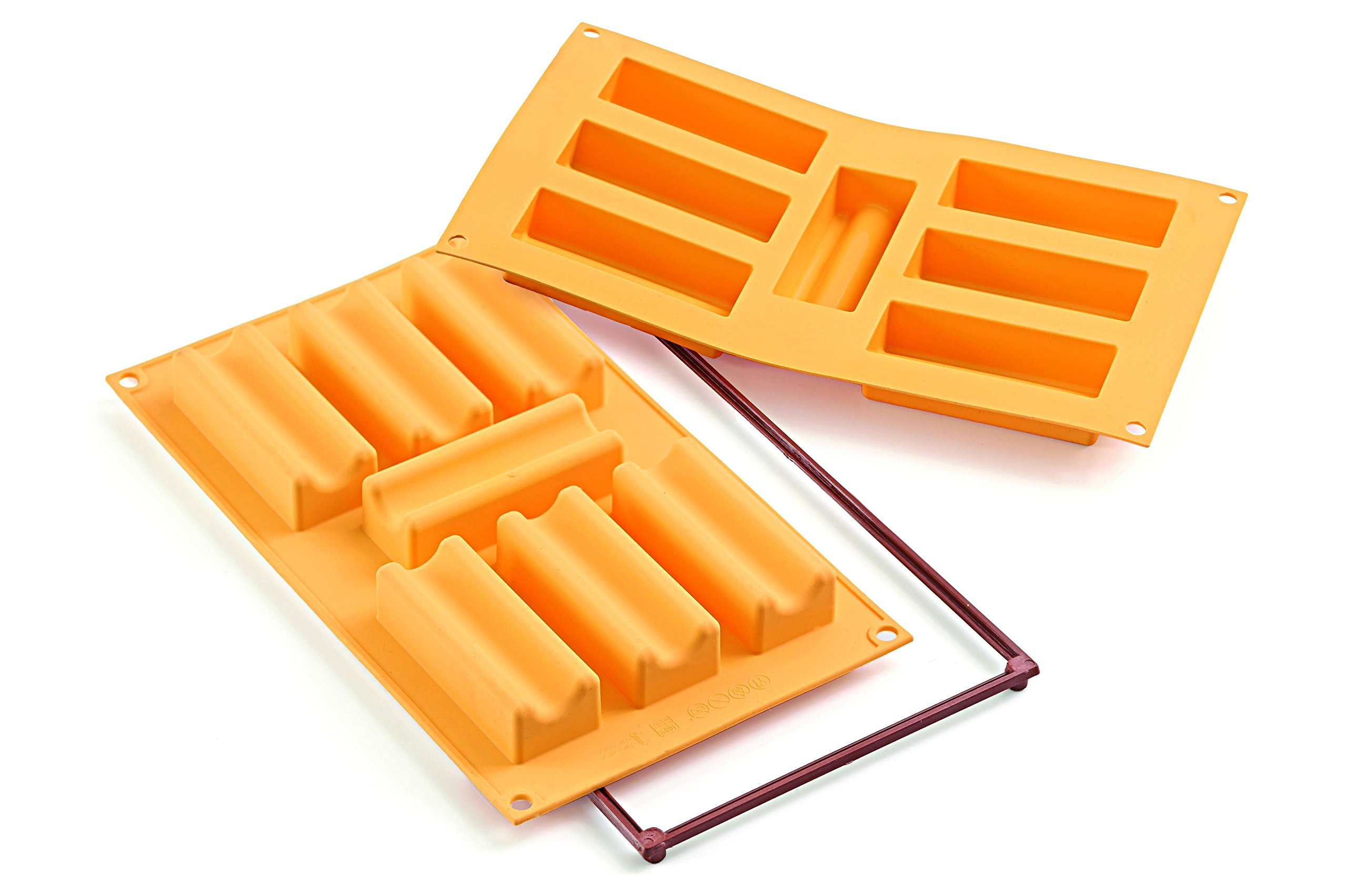 Silikomart Silicone Fancy and Function Bakeware Collection Multi-Shape Cake Pan, Marsigliese