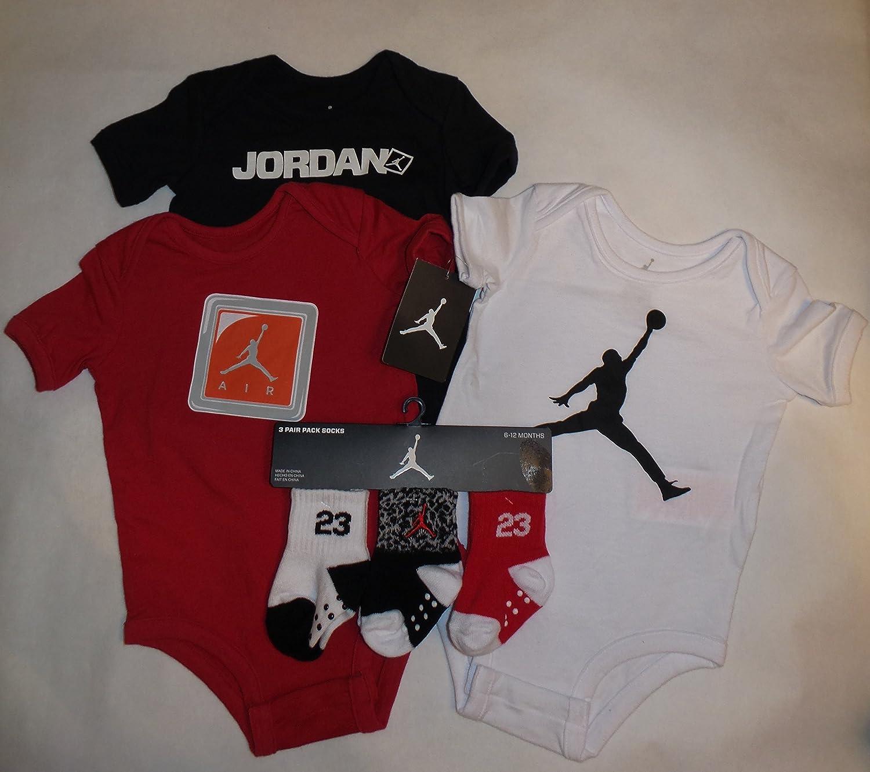 cd0258e85d39ac Amazon.com  Nike Jordan Jumpman 23 Infant 3 Piece Set Bodysuit
