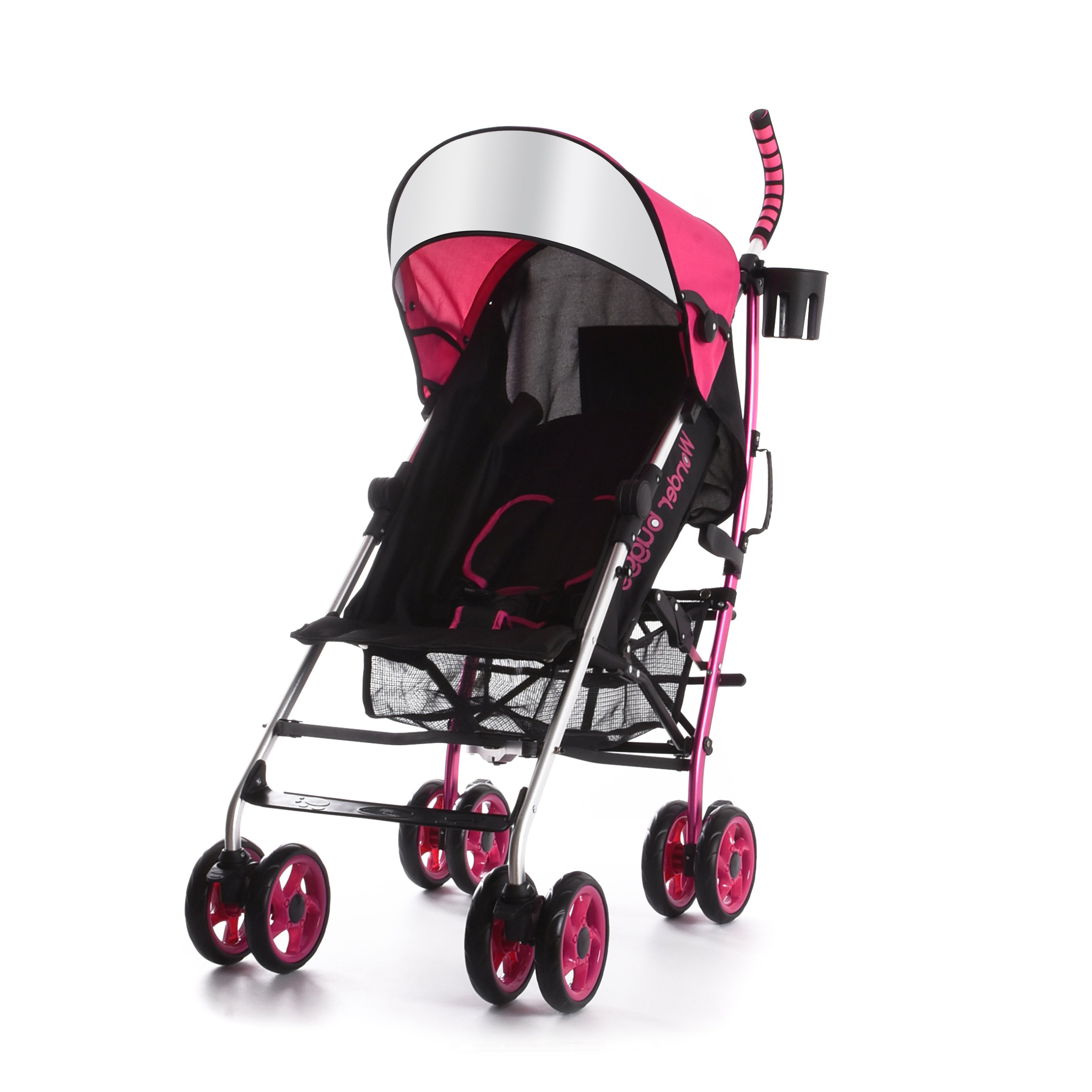 Wonder Buggy All Town Rider Light Weight Four Position Aluminum Stroller with Sun Visor, Pink, One Size