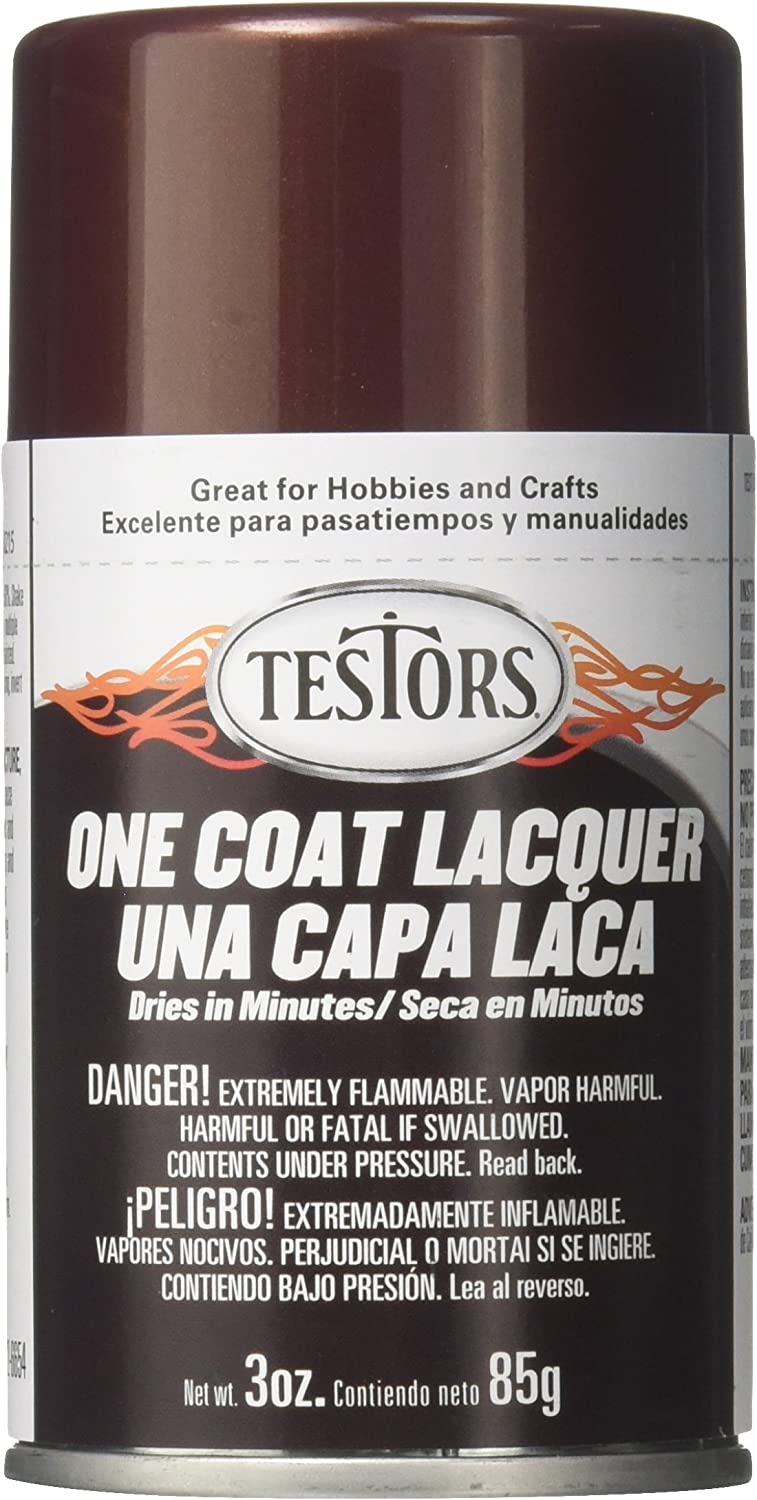 Testors 1848MT 3 oz. Lacquer Spray Gloss Paint, Root Beer