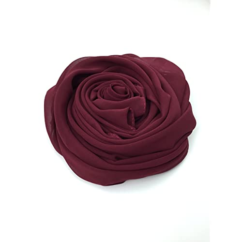 Plain Chiffon Hijab Scarf shawl wrap Lovely material 40 colors