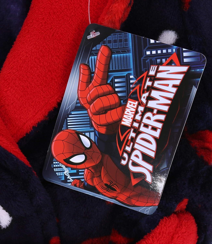 Accappatoio di Colore Blu Marino e Rosso Spiderman Marvel