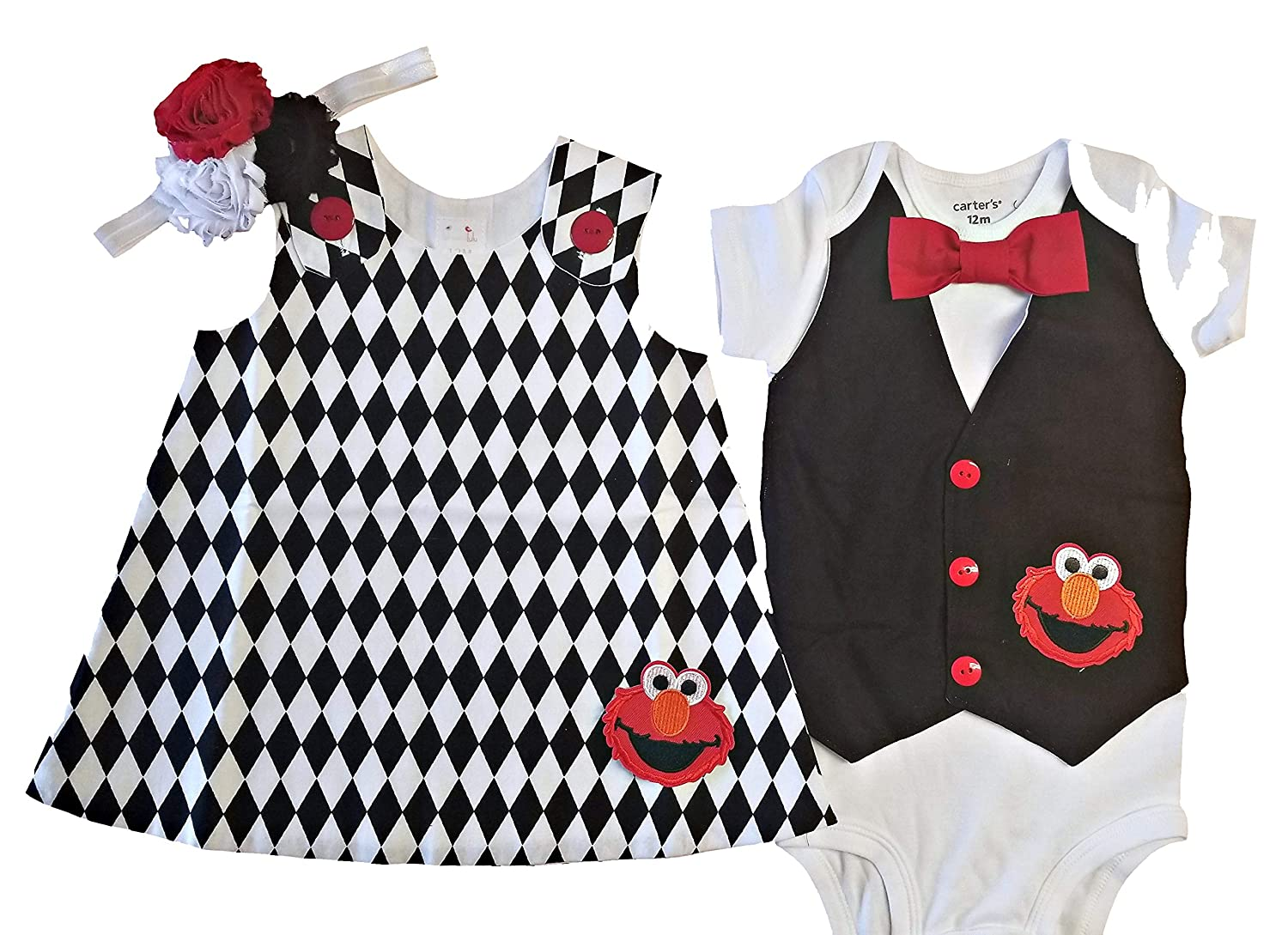 4d3746ffb60 Perfect pairz boy girl twin outfits elmo set usa made clothing jpg  1500x1089 Outfits for twin