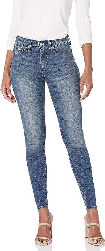 Amazon Com Levi Strauss Co Signature Etiqueta Dorada Pantalones De Mezclilla Para Mujer Modernos Entallados Levi Strauss Company Gold Label Clothing