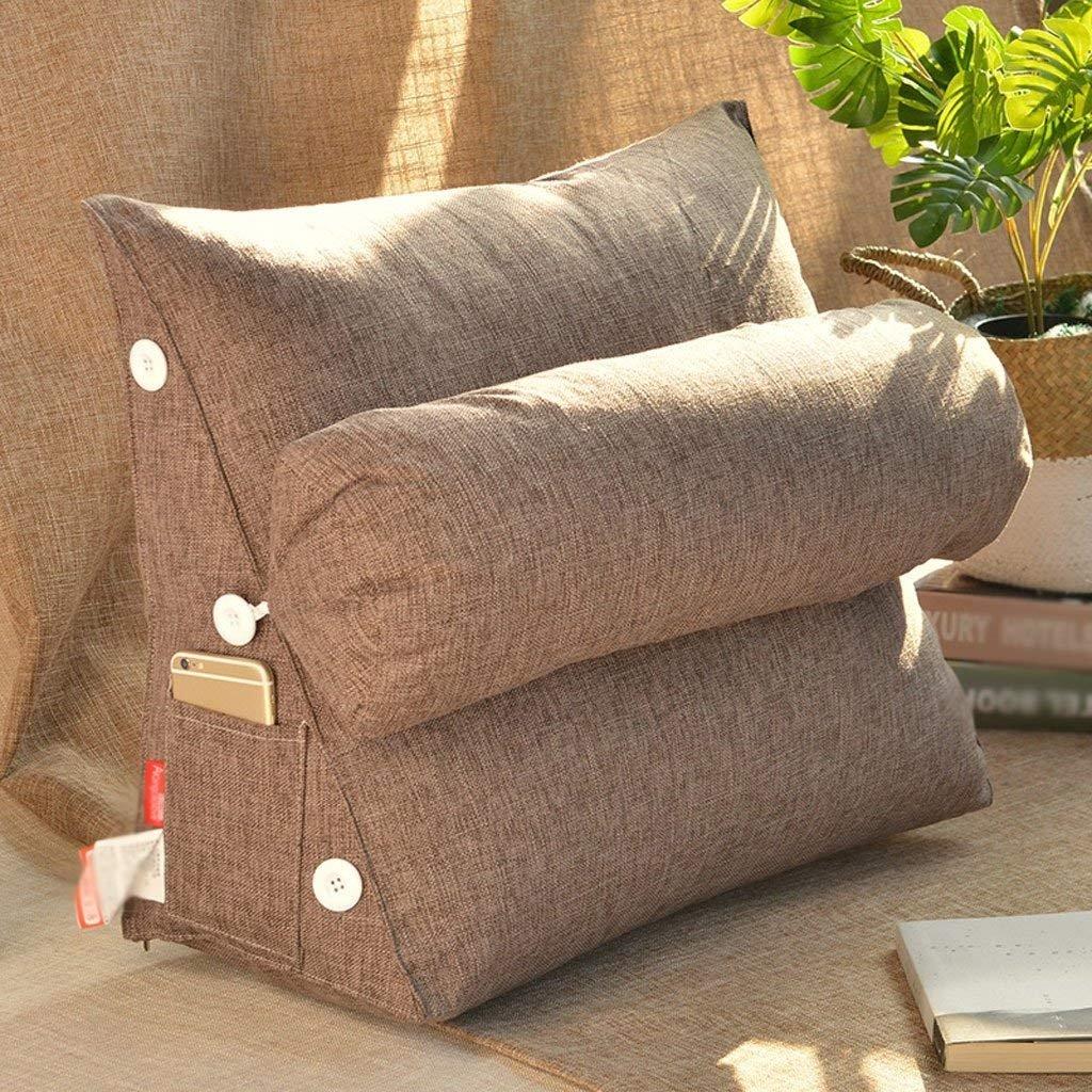 クッション| 2018新しい純粋な色の綿とリネン洗えるアメリカの枕のベッド背もたれソファの枕オフィスのウエストのサポート ファッション z B07F6WV1C2 58センチメートル|11# 11# 58センチメートル