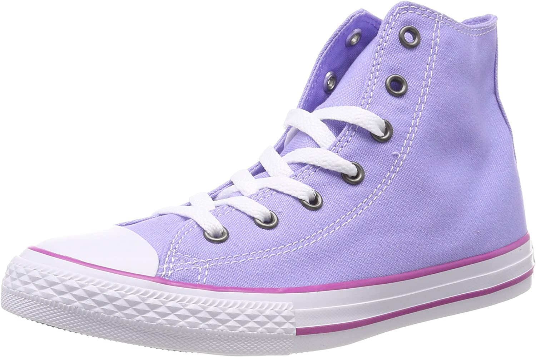 Converse CTAS Hi, Baskets Hautes Mixte Enfant, Violet