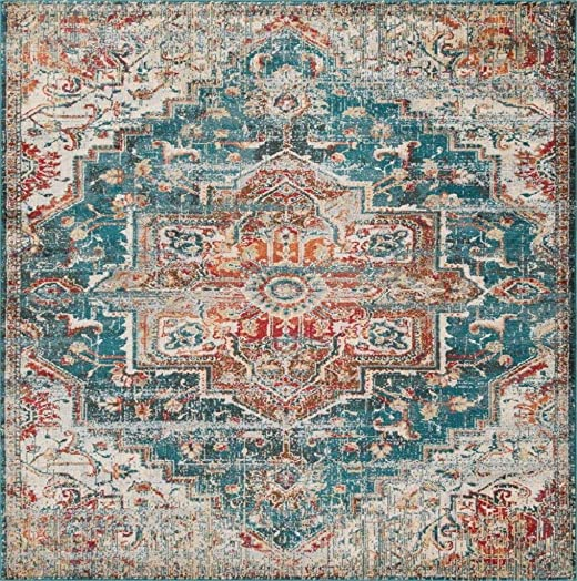 Luxe Weavers Blue 8×10 Oriental Area Rug