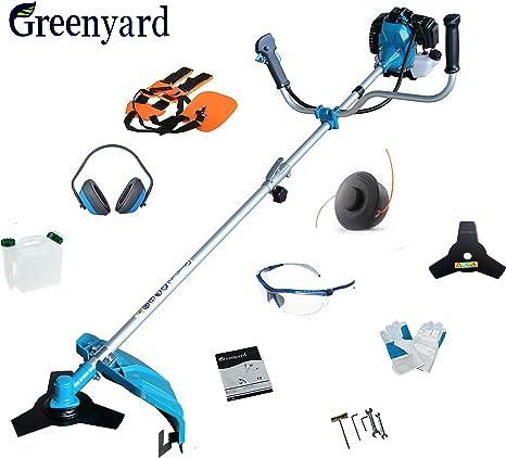 Greenyard Desbrozadora de Gasolina 2 en 1, 51.7CC, 2.3KW + Orejeras: Amazon.es: Bricolaje y herramientas