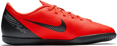 57ffa864192 Bota Indoor NIKE CR7 JR Vapor X 12 Club IC Rojas: Amazon.es: Zapatos y  complementos