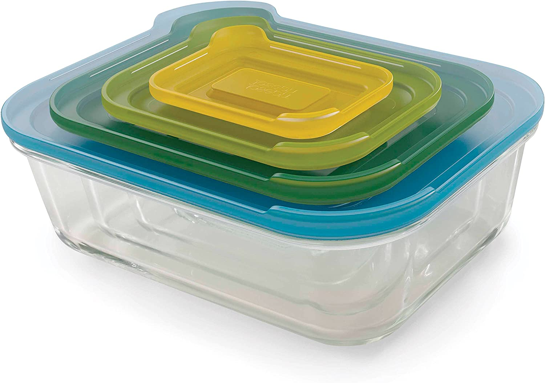 Joseph Joseph Nest Glass Storage Dishes - Multi-Colour, Set of 4