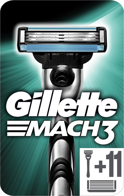 Gillette Mach3 - Maquinilla de Afeitar para Hombre + 11 Cuchillas de Afeitar