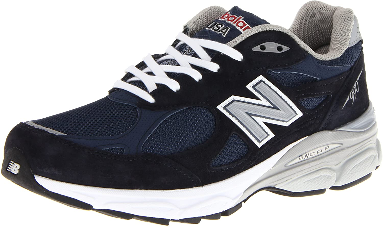 New Balance Men s M990NV3 Running Shoe,Navy,13 4E US