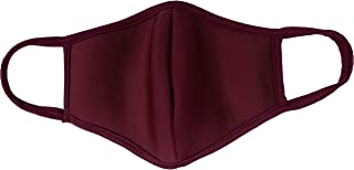 product image for DewAmor Reusable, Washable Neoprene/Cotton Face Mask Protection from Dust, Pollen, Pet Dander and other Airborne Irritants (Burgundy) (Made in USA)