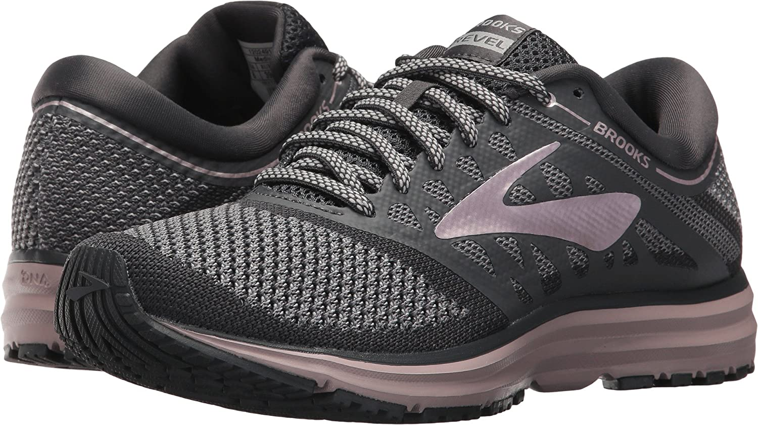 Brooks Womens Revel B06XXH63QK 9 B(M) US|Grey/Ebony/Rose Gold