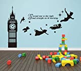 Big Ben Clock Wall Decal, Second Star to The